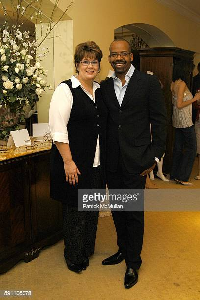 Lloyd Boston and Kathy Clark attend The LensCrafters EyeCatching Oscar Suite Cocktail Party in Honor of the 77th Academy Awards at Regent Beverly...