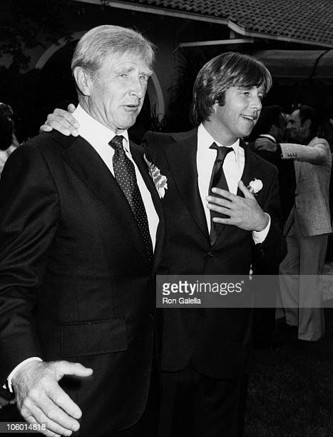 Lloyd Bridges and Beau Bridges during Cindy Bridges' Wedding August 31 1979 at Bel Air Hotel in Bel Air California United States