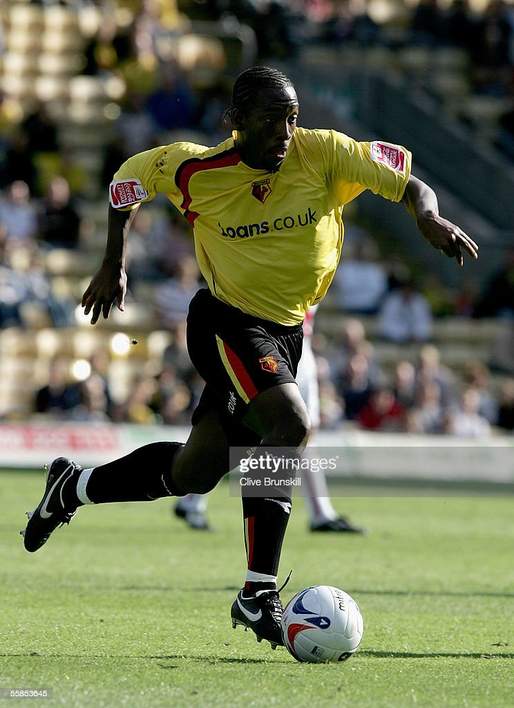 Lloyd Doyley of Watford in action during the Coca Cola Championship match between Watford and Sheffield United at Vicarage Road on September 17, 2004 in Watford, England.