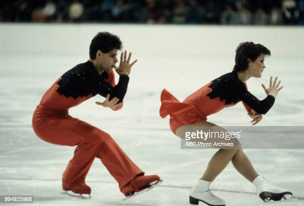 Lloyd Eisler Katherina Matousek in the pairs skating competition at the 1984 Winter Olympics / XIV Olympic Winter Games Zetra Ice Hall