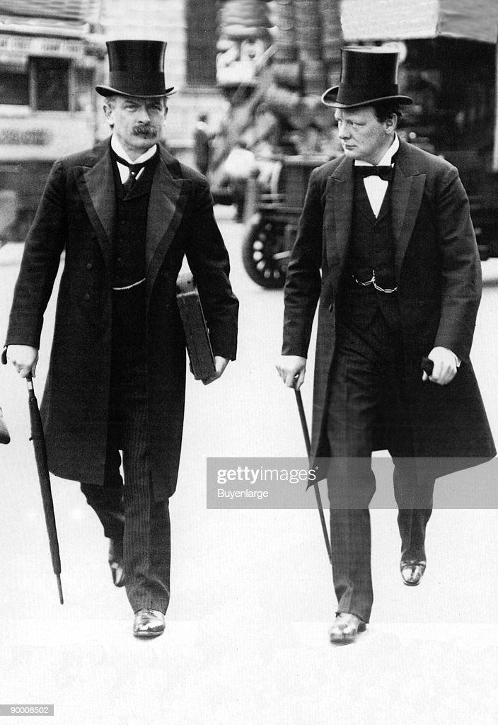 Lloyd George with Churchill, London : News Photo