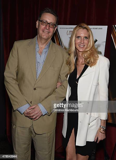 Lloyd Grove and Ann Coulter attend Seth Meyers with the Orchard the Cinema Society Host a Special Screening of 'Cartel Land' at Tribeca Grand Hotel...