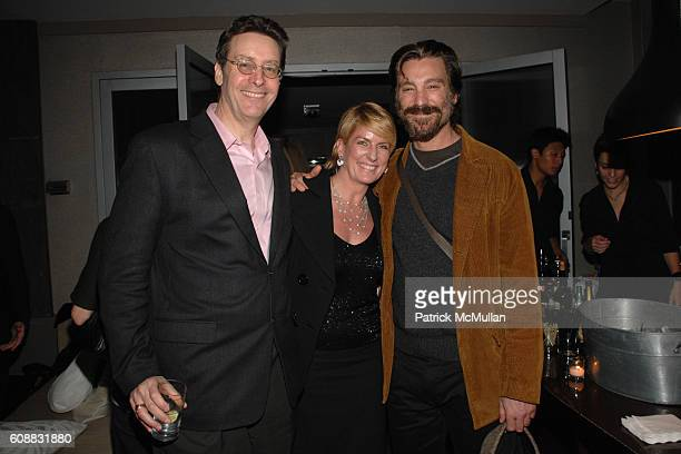 Lloyd Grove Felicia Taylor and Michael T Weiss attend THE CINEMA SOCIETY DETAILS host the after party for GONE BABY GONE at Soho Grand Penthouse on...