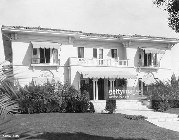 Lloyd Harold Actor Comedian USA*20041893his mansion in Hollywood around 1930Vintage property of ullstein bild