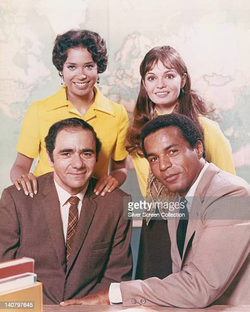 Lloyd Haynes US actor Denise Nicholas US actress Michael Constantine US actor and Karen Valentine US actress pose for a group portrait issued as...