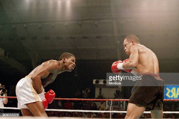 Lloyd Honeyghan vs Marlon Starling for the WBC Welterweight title. Caesars Palace, Las Vegas, Nevada, USA. Starling won by TKO in round nine to...