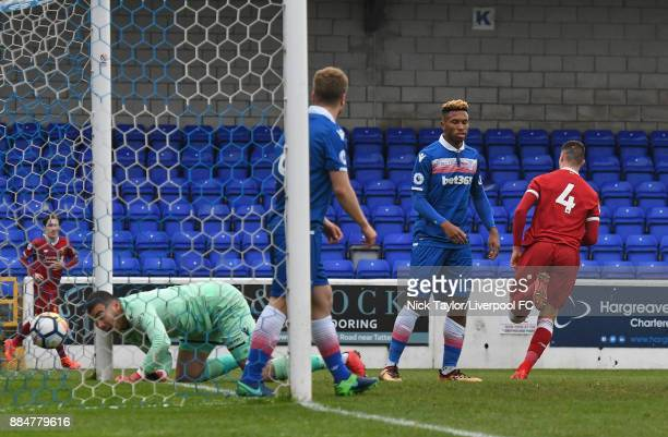 Lloyd Jones of Liverpool celebrates his goal during the Liverpool v Stoke City Premier League Cup game at The Swansway Chester Stadium on December 3...