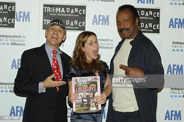Lloyd Kaufman President of Troma Jenna Fischer and Fred The Hammer Williamson