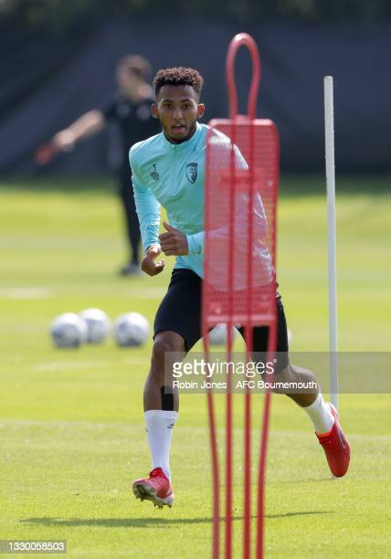 Lloyd Kelly of Bournemouth during a pre-season training session at Vitality Stadium on July 22, 2021 in Bournemouth, England.