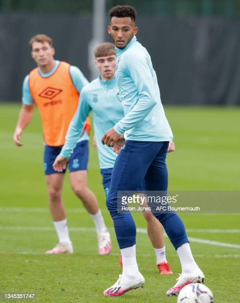 Lloyd Kelly of Bournemouth during a training session at the Vitality Stadium on October 07, 2021 in Bournemouth, England.