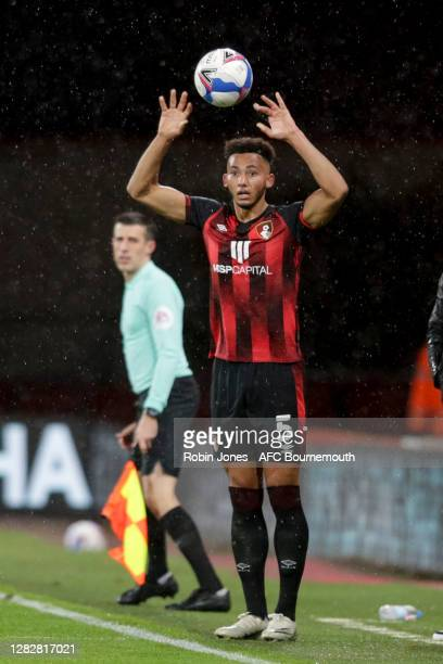 Lloyd Kelly of Bournemouth during the Sky Bet Championship match between AFC Bournemouth and Bristol City at Vitality Stadium on October 28 2020 in...