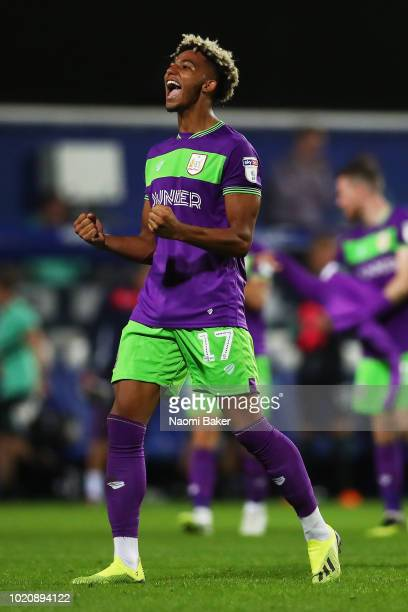 Lloyd Kelly of Bristol City celebrates at the full time whistle after the Sky Bet Championship match between Queens Park Rangers and Bristol City at...