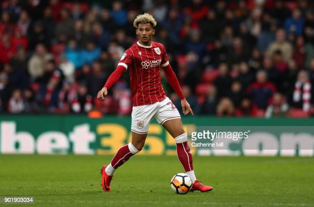 Lloyd Kelly of Bristol City during the Emirates FA Cup Third Round match between Watford and Bristol City at Vicarage Road on January 6 2018 in...