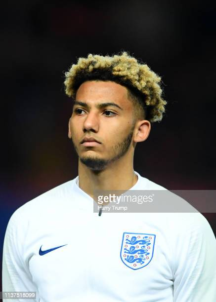 Lloyd Kelly of England during the U21 International Friendly match between England and Poland at Ashton Gate on March 21 2019 in Bristol England