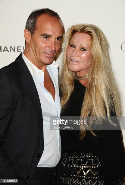 Lloyd Klein and Jocelyn Wildenstein attend the after party for 'Coco Before Chanel' at Chanel Boutique on September 9 2009 in Beverly Hills California