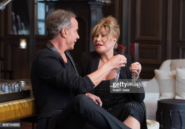 Lloyd Klein and Jocelyn Wildenstein discuss their engagement at Baccarat Hotel on August 5 2017 in New York City