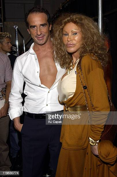Lloyd Klein and Jocelyne Wildenstein during MercedesBenz Fashion Week Spring 2004 Chopard Rocks the Lloyd Klein Show with the Golden Diamond...