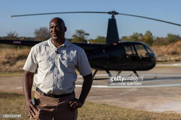 Lloyd owner of a helicopter company Chikopokopo poses for a portrait on 28 June 2018 in the resort town of Victoria Falls After nearly two decades in...