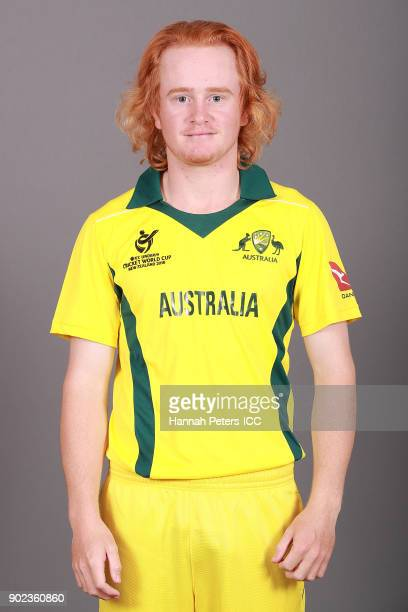 Lloyd Pope poses during the Australia ICC U19 Cricket World Cup Headshots Session at Rydges Christchurch on January 8 2018 in Christchurch New Zealand