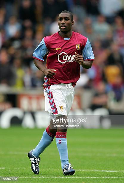 Lloyd Samuel of Villa in action during the preseason friendly match between Wolverhampton Wanderers and Aston Villa at Molineux July 30 2005 in...