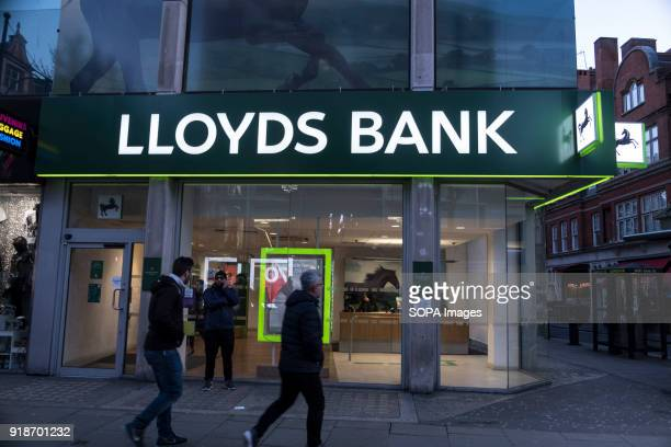 Lloyds Bank store seen in London famous Oxford street Central London is one of the most attractive tourist attraction for individuals whose willing...