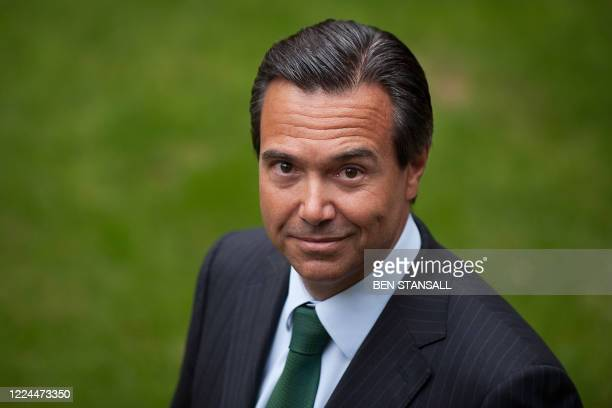 Lloyds Banking Group's chief executive Antonio HortaOsorio poses for photographers outside the Lloyds Banking Group headquarters in central London on...