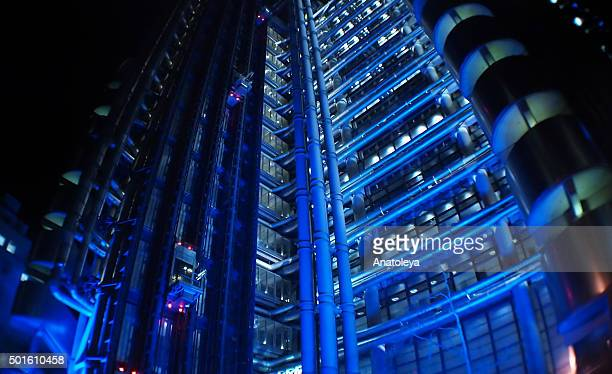 Lloyd's building at night