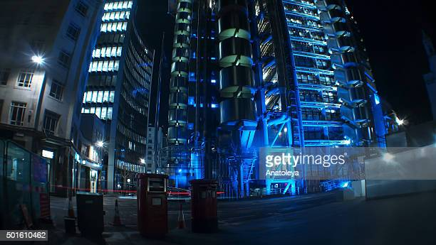 lloyd's building at night - anatoleya stock pictures, royalty-free photos & images