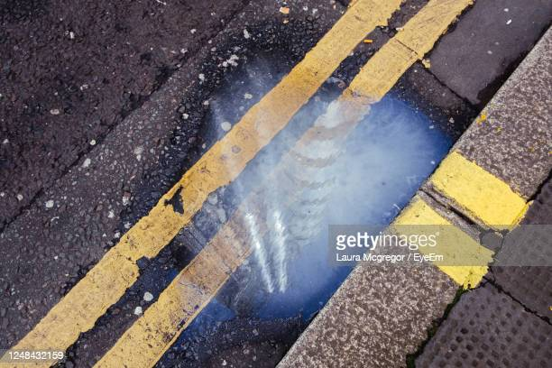 lloyds building reflected in a puddle - wet stock pictures, royalty-free photos & images