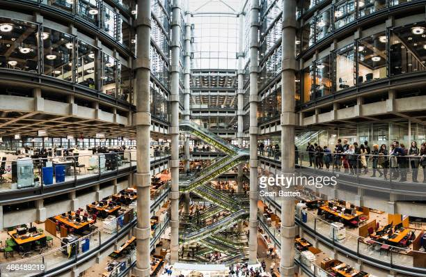 Lloyds Of London is a huge space, much bigger than you'd think from the outside. In the middle is a void that runs all the way to the top. You can...