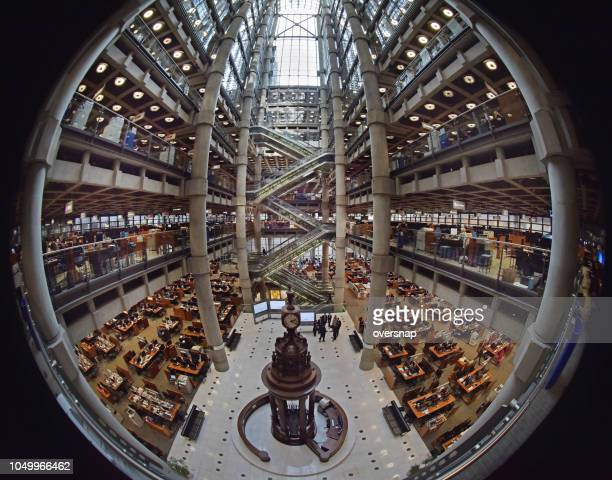 lloyd's of london - trading floor stock pictures, royalty-free photos & images