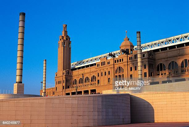Lluis Companys Olympic Stadium renovated in 1989, Montjuic, Barcelona, Catalonia. Spain, 20th century.