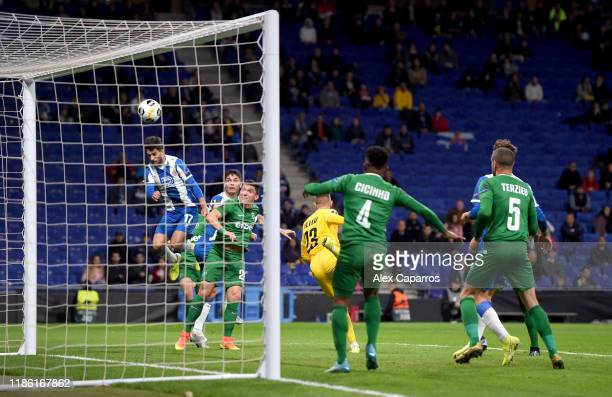 Lluis Lopez of Espanyol sduring the UEFA Europa League group H match between Espanyol Barcelona and PFC Ludogorets Razgrad at the RCDE Stadium on...