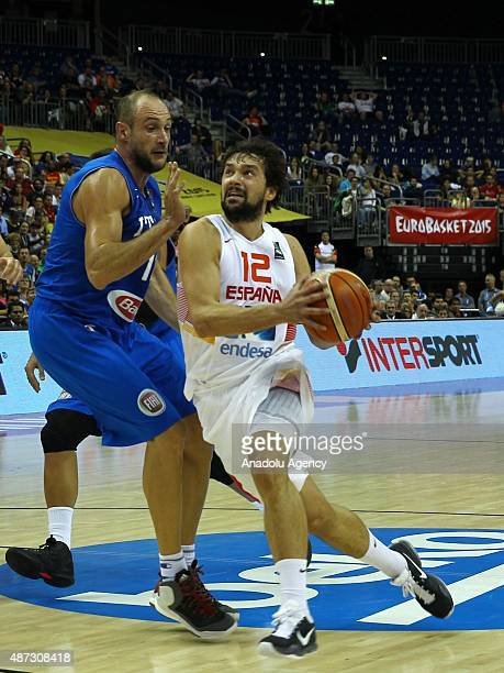 Llull of Spain in action during the FIBA EuroBasket 2015 Group B basketball match between Spain and Italy at Mercedes Benz Arena in Berlin Germany on...