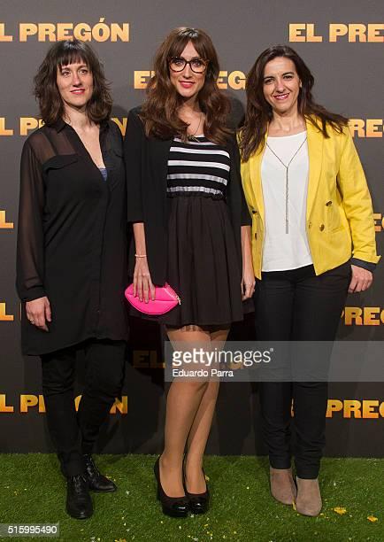 Llum Barrera and Ana Morgade attend 'El pregon' premiere at Capitol cinema on March 16 2016 in Madrid Spain