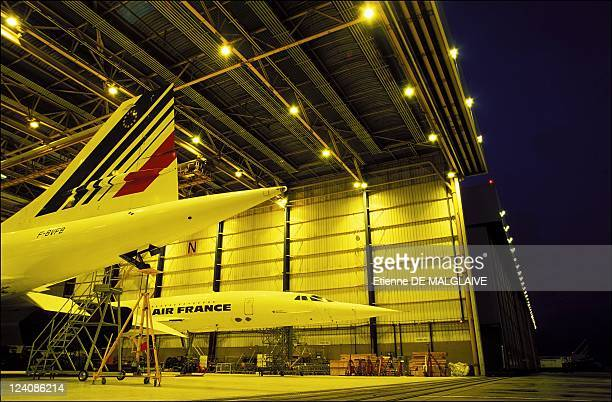 llustration Air France Concorde In Roissy France In January 2001 Concorde jet in a hangar at Roissy CharlesdeGaulle airport