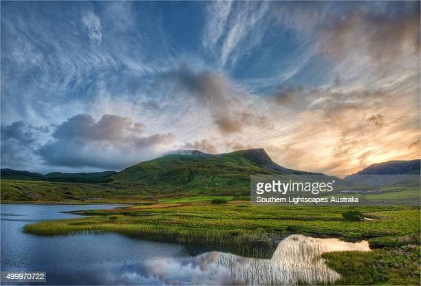Llyn Cwellyn in the Snowdonia National Park, northern Wales, United Kingdom.