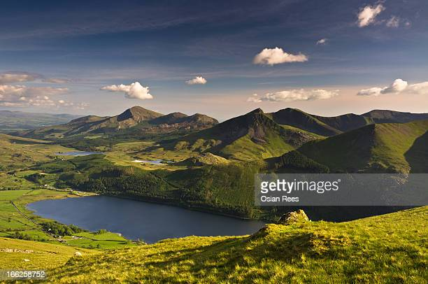 llyn cwellyn - snowdonia stock photos and pictures