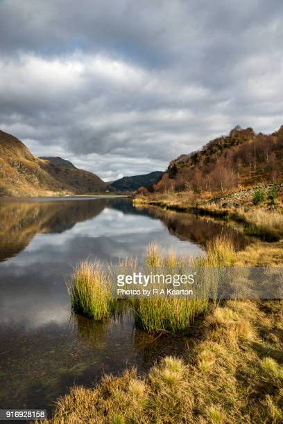 Llyn Dinas in autumn, Snowdonia national park, Wales