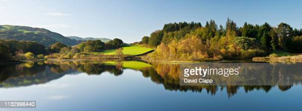 "llyn tecwyn isaf, snowdonia, wales""n - panorama stock pictures, royalty-free photos & images"