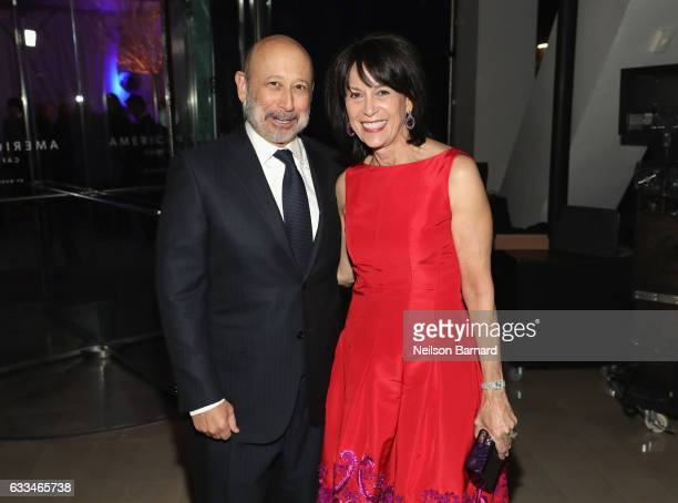 Llyod Blankfein and Lincoln Center for the Performing Arts Chair Katherine G Farley attend Lincoln Center's American Songbook Gala red carpet at...