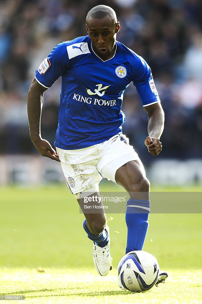 Llyod Dyer of Leicester in action during the npower Championship match between Leicester City and Nottingham Forest at the King Power Stadium on November 10, 2012 in Leicester, England.