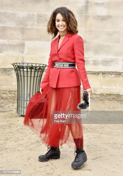 Léna Mahfouf aka Léna Situations attends the Dior Womenswear Spring/Summer 2021show as part of Paris Fashion Week on September 29, 2020 in Paris,...
