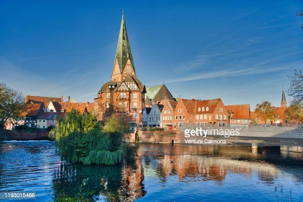 lüneburg in the morning light, germany - lüneburg stock pictures, royalty-free photos & images