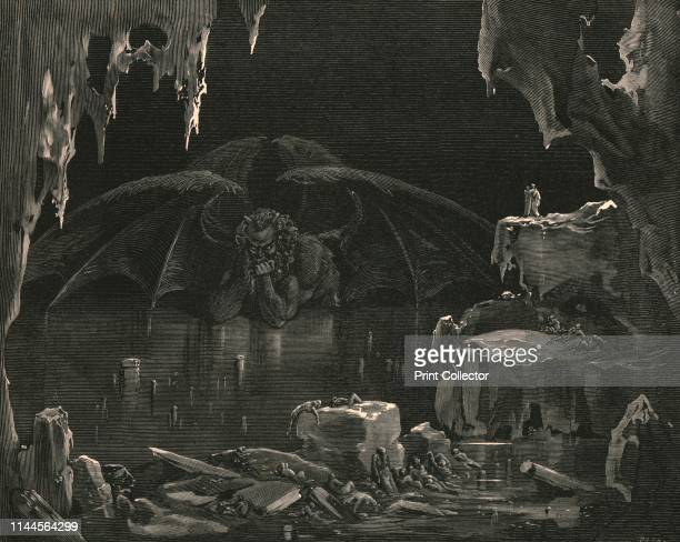 """""""Lo!"""" he exclaimed, """"lo Dis!: and lo! the place, where thou hast need to arm thy heart with strength""""', circa 1890. Satan, referred to by Virgil as..."""