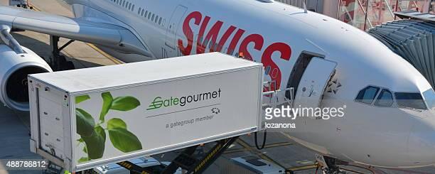 Last Speisen auf Flugzeug (gate gourmet