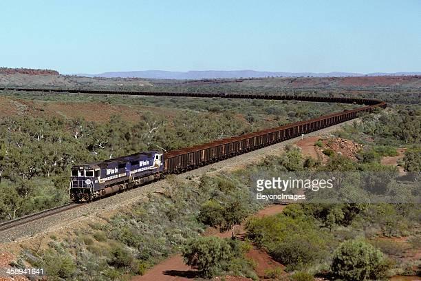 Loaded BHP iron ore train heads to Port Hedland