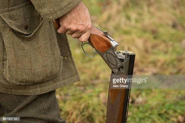 Loaded Gun and waiting for pheasants