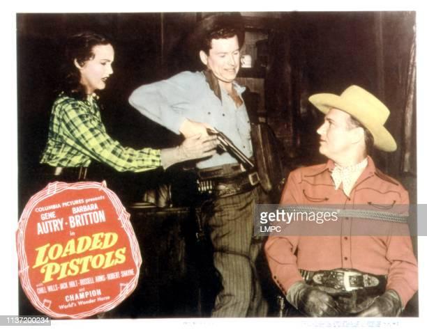Loaded Pistols lobbycard Barbara Britton Gene Autry 1948