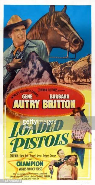 Loaded Pistols poster US poster Gene Autry Barbara Britton 1948